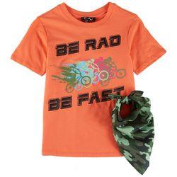 Bleached Big Boys Be Rad Be Fast T-Shirt & Bandana