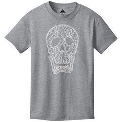 Awayalife Big Boys Skull Spider Web T-Shirt