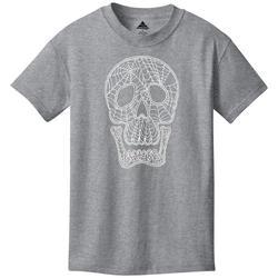 Big Boys Skull Spider Web T-Shirt