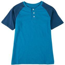 Cherokee Big Boys Colorblocked Henley T-Shirt