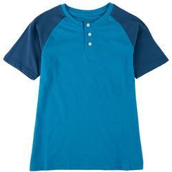 Big Boys Colorblocked Henley T-Shirt