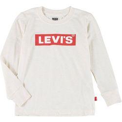 Little Boys Long Sleeve Logo T-shirt