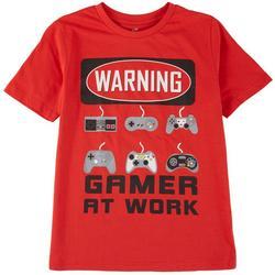 Big Boys Warning Gamer At Work T-Shirt
