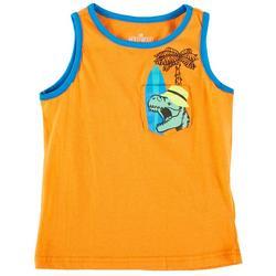 Little Boys Dino Beach Tank Top