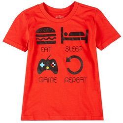 Hollywood Little Boys Eat Sleep Game T-shirt