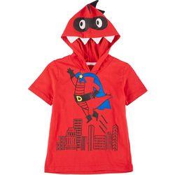 Little Boys Superdino Hooded Tee