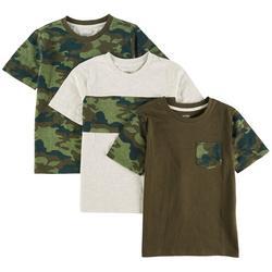Big Boys 3-pc. Camo T-Shirt Set