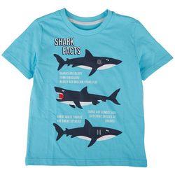 Seven Oaks Little Boys Shark Facts T-Shirt