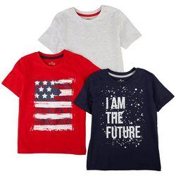 Seven Oaks Little Boys 3-pc. Americana T-Shirt Set