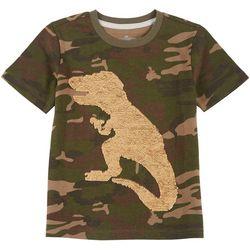 Little Boys Sequin Dino Camo T-shirt