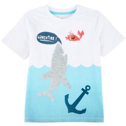 Little Boys Sequin Shark T-shirt