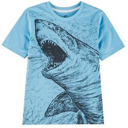 Big Boys Shark Print T-Shirt