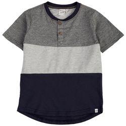 Reverse Threads Little Boys Colorblock Henley T-Shirt