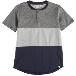 Big Boys Colorblock Henley T-Shirt