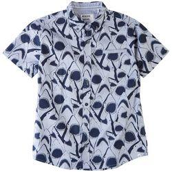Reverse Threads Little Boys Dover Shark Button Down Shirt