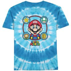 Super Mario Brothers Little Boys Tie Dye Character T-Shirt