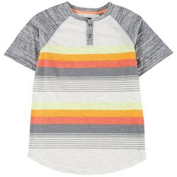 Ocean Current Big Boys Stripe Henley Short Sleeve T-shirt