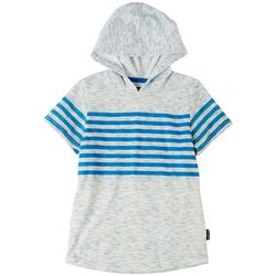 Ocean Current Little Boys Striped Short Sleeve Hoodie