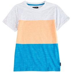 Ocean Current Little Boys Blocked Stripe Crew Neck T-Shirt