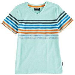 Ocean Current Little Boys Daemon Stripe V-Neck T-Shirt