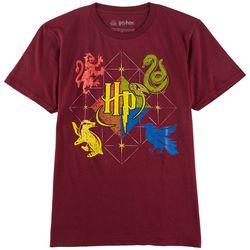 Harry Potter Big Boys Hogwarts House Crests T-Shirt