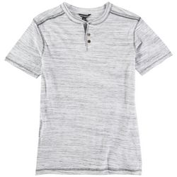 Distortion Big Boys Space Dyed Henley T-Shirt