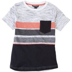 Distortion Little Boys Space Dyed Stripe T-Shirt
