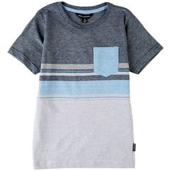 Distortion Little Boys Heathered Stripe T-Shirt