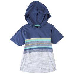 Distortion Little Boys Striped Hooded T-Shirt
