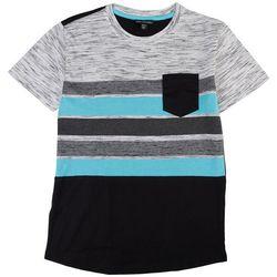 Distortion Big Boys Stripe Print Pocket T-Shirt