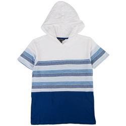 Big Boys Striped Hooded T-Shirt