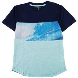Distortion Big Boys Colorblocked Ocean Wave T-Shirt