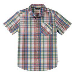 Big Boys Short Sleeve Plaid Shirt