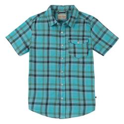 Big Boys Short Sleeve Plaid Print Shirt