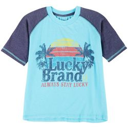 Lucky Brand Big Boys Short Sleeve Palm Tree T-Shirt