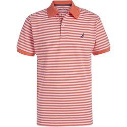 Big Boys Short Sleeve Striped Polo Shirt