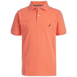 Big Boys Anchor Solid Polo Shirt