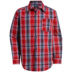 Nautica Big Boys Chet Plaid Button Down Long Sleeve Shirt