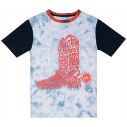 Lucky Brand Big Boys Tie Dye Boot T-Shirt
