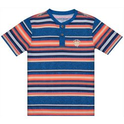 Lucky Brand Big Boys Striped Button T-Shirt