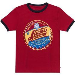 Lucky Brand Big Boys Bottle Cap Graphic T-Shirt