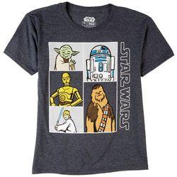 Star Wars Big Boys Character Block Print T-Shirt