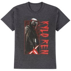 Star Wars Big Boys Short Sleeve Heathered Kylo Ren T-Shirt