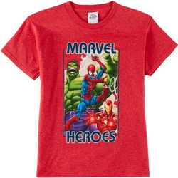 Marvel Big Boys Color Print T-Shirt
