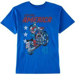 Marvel Big Boys Captain America Color Print T-Shirt