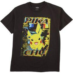 Pokemon Big Boys Pikachu Distortion T-shirt
