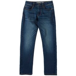 Lazer Big Boys Straight Martin Wash Denim Pants