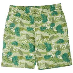 Big Boys Palm Leaf Print Shorts
