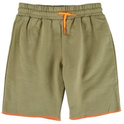 Bleached Big Boys Solid Contrast Trim Shorts