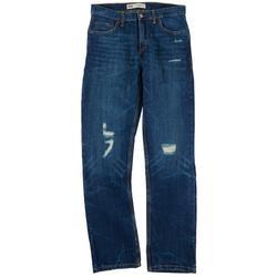Big Boys 502 Regular Distressed Denim Jeans